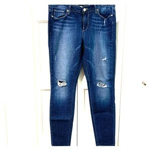 Paige skinny ankle distressed jeans